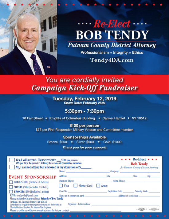 Bob Tendy for District Attorney Fundraiser
